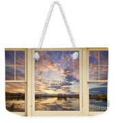 Golden Ponds Scenic Sunset Reflections 4 Yellow Window View Weekender Tote Bag