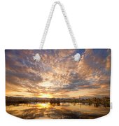 Golden Ponds Scenic Sunset Reflections 5 Weekender Tote Bag