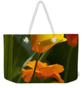 Golden Poppy Floral  Bible Verse Photography Weekender Tote Bag