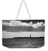 Golden Rays At Cape May Bw Weekender Tote Bag