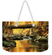 Golden Reflection Autumn Bridge Weekender Tote Bag