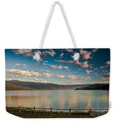 Golden Reflection On Lake Cascade Weekender Tote Bag by Robert Bales
