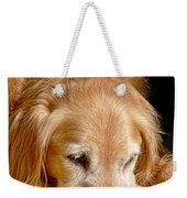 Golden Retriever Dog On The Yellow Blanket Weekender Tote Bag