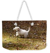 Golden Retriever Puppy Weekender Tote Bag by Andrea Anderegg