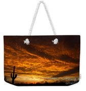 Golden Saguaro Weekender Tote Bag