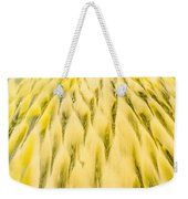 Golden Sand Pattern Created By Surf On Beach Weekender Tote Bag