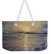 Golden Sea View Weekender Tote Bag