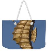 Golden Seahorse Weekender Tote Bag