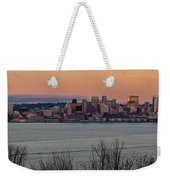 Golden Seattle Skyline Sunset Weekender Tote Bag