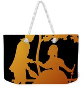 Golden Silhouette Garden Proposal Will You Marry Me Weekender Tote Bag