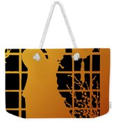 Golden Silhouette Of Couple Embracing Weekender Tote Bag