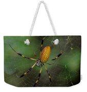 Golden Silk Spider 10 Weekender Tote Bag