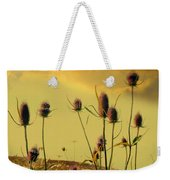 Teasels Reach For The Golden Sky Weekender Tote Bag