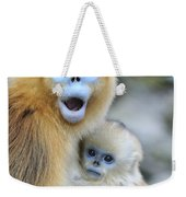 Golden Snub-nosed Monkey And Young China Weekender Tote Bag