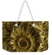 Golden Spiral Weekender Tote Bag