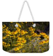 Golden Spring Flowers  Weekender Tote Bag