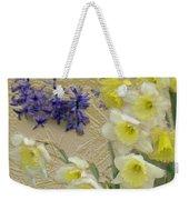 Golden Spring Weekender Tote Bag