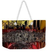 Golden Stained Abstract Weekender Tote Bag
