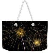 Golden Starburst Weekender Tote Bag