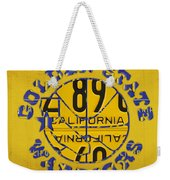 Golden State Warriors Basketball Team Retro Logo Vintage Recycled California License Plate Art Weekender Tote Bag