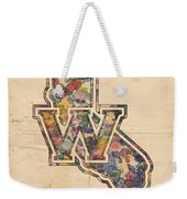Golden State Warriors Poster Vintage Weekender Tote Bag