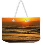 Golden Sun Up Reflection Weekender Tote Bag