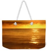 Golden Sunrise Over The Water Weekender Tote Bag