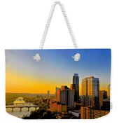 Golden Sunset In Austin Texas Weekender Tote Bag