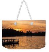 Golden Sunset Lake Horicon Lakehurst Nj Weekender Tote Bag