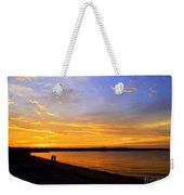 Golden Sunset On The Harbor Weekender Tote Bag