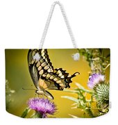 Golden Swallowtail Weekender Tote Bag