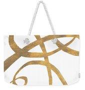 Golden Swirls Square II Weekender Tote Bag
