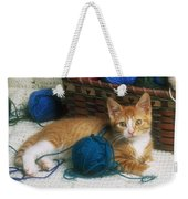 Golden Tabby Kitten Weekender Tote Bag