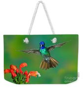Golden-tailed Sapphire At Flower Weekender Tote Bag