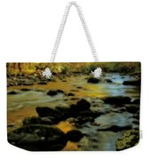 Golden View Of The Little River In Autumn Weekender Tote Bag by Dan Sproul