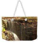 Golden Waterfall October In Ohio Weekender Tote Bag