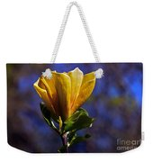 Golden Yellow Magnolia Blossom Weekender Tote Bag