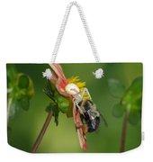 Goldenrod Spider Weekender Tote Bag