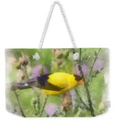 Goldfinch #3 By Kerri Farley Weekender Tote Bag