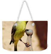 Goldfinch Contemplating 031015ac Weekender Tote Bag