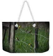 Goldfinch Gathering Weekender Tote Bag