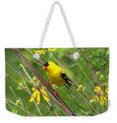 Goldfinch In The Flowers Weekender Tote Bag