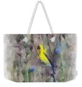 Goldfinch In Wildflowers Weekender Tote Bag