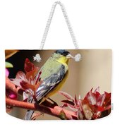 Goldfinch On Branch 031015aa Weekender Tote Bag