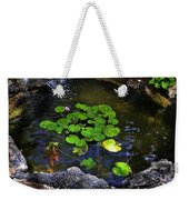 Goldfish With Lily Pads Weekender Tote Bag