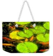 On Goldfish Pond Artwork Weekender Tote Bag
