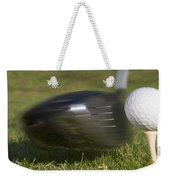 Golf Ball On Tee Hit By Driver Weekender Tote Bag