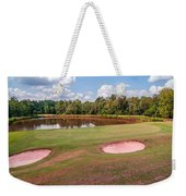 Golf Course Beautiful Landscape On Sunny Day Weekender Tote Bag