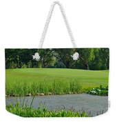 Golf Course Lay Up Weekender Tote Bag by Frozen in Time Fine Art Photography