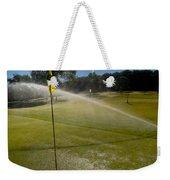 Golf Course Sprinkler On Sunny Day Weekender Tote Bag